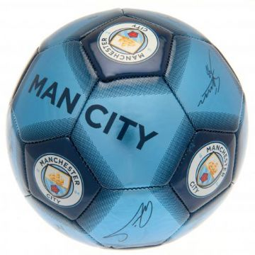 Manchester City Football with Signatures